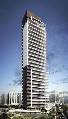 Condominium Architecture, Futuristic Architecture, Facade Architecture, Residential Architecture, Amazing Architecture, Tower Building, Building Facade, Building Exterior, Building Design