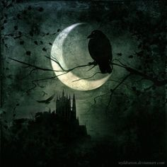 Want to discover art related to crow? Check out inspiring examples of crow artwork on DeviantArt, and get inspired by our community of talented artists. Gothic Artwork, Quoth The Raven, Crow Art, Crows Ravens, Rabe, Dark Skies, Sculpture, Illustrations, Stars And Moon