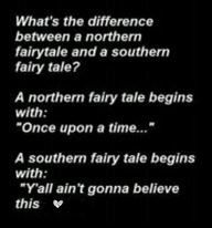 Difference between a northern fairy tale and a southern fairy tale