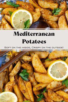 How To Dry Rosemary, How To Dry Oregano, Greek Potatoes, Potato Rice, Vegan Side Dishes, Oven Roast, Roasted Potatoes, Polenta, Couscous