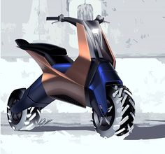 Presenting these BRP sketches by to community. Scooter Design, Motorcycle Design, Motorcycle Bike, Eletric Bike, Future Concept Cars, Bike Sketch, E Mobility, Concept Motorcycles, Futuristic Motorcycle