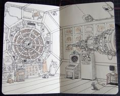 Sketchbook 22 by Mattias Adolfsson, via Behance