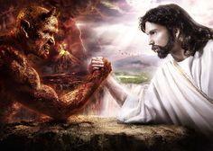 Free Photo Wallpapers Abstract Fantasy Good Vs Evil Wallpaper Devil vs Jesus Satan vs Jesus