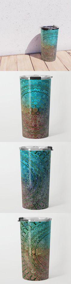 Cold Metal Flower Mandala Travel Mug by David Zydd #MandalaTravelMug #BestTravelMugs #Mandala #Abstract #MandalaHomeDecor #Tabletop #Ornate #Metal #Artwork (tags: cold, art, ornate, metal, decor, spiritual, color, relax, mandala home decor, gift, tableware, mandala, floral art, equipment, bohemian, multicolored, kitchen, mandala design, trip, sacred) Mandala Design, Mandala Pattern, Mandala Artwork, Flower Mandala, Metal Flowers, Travel Mugs, Sacred Geometry, Planter Pots, David