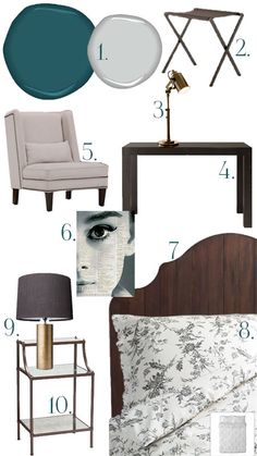 Might be a good accent wall color if I decide against the purple. Dream Bedroom, Master Bedroom, Furniture Plans, Furniture Design, Bed Furniture, Accent Wall Colors, Guest Bedrooms, Neutral Bedrooms, Guest Room