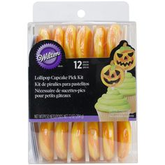 Wilton 1006-0558 Jack-o-Lantern 12-Piece Lollipop Cupcake Pick Kit *** Awesome deals : Baking decorations