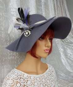 I love this #hat. It's perfect for spring and autumn with its light shade and wide brim. Also great if you're going to the #horseracing. 100% wool felt and the feathers are removable. #hats #hatscouture #hatsdesigner #hatsday #hatseries #hatsfortheroad #hatsforhope #hatsinthegarden #hatslovers #hatsnothate #hatspiration #hatsrule #hatsreadytobeloved #hatsstyle #hatsstore #hatswithsoul #hatsxclusive #hats4sale #exclusivedesign