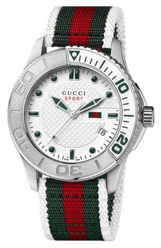 Gucci 'G Timeless' Nylon Strap Watch