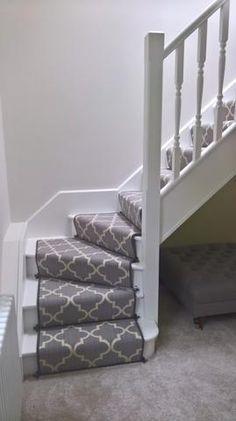 Axminster Carpets Royal Borough Trellis Windsor Steel Mid Grey Stair Runner – Stonegate Carpets