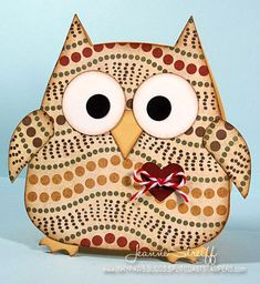 Funky Owl by Jeanne S - Cards and Paper Crafts at Splitcoaststampers  Sizzix 657694 Owl #2