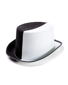 Black White Split Top Hat - Spirithalloween.com
