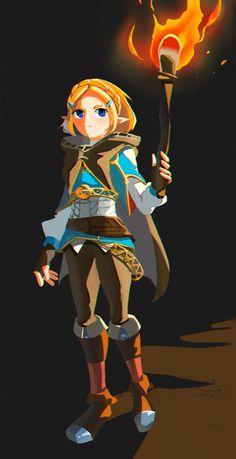 The Legend of Zelda Princesa Zelda, Botw Zelda, Legend Of Zelda Breath, Demon King, Link Zelda, Fan Art, Breath Of The Wild, Heart For Kids, Video Game Art