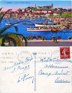 Cannes - Le port et le Mont Chevalier - 1913 (from http://mercipourlacarte.com/picture?/1940/)
