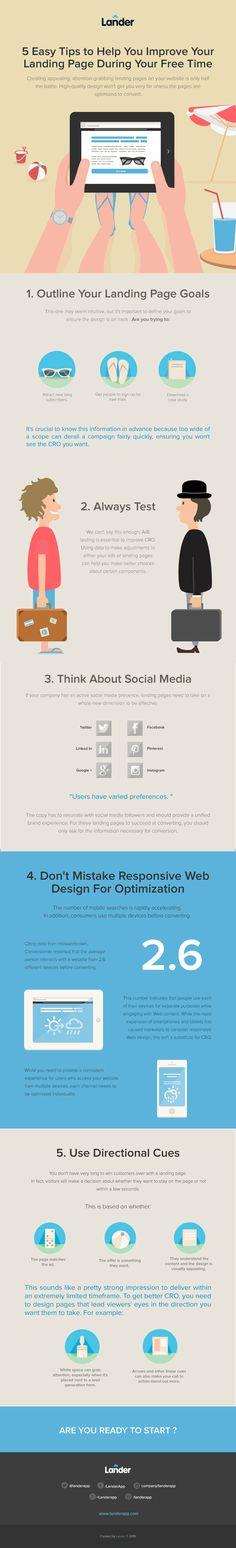 10 consejos para mejorar tu Landing Page #infografgia #infographic #marketing