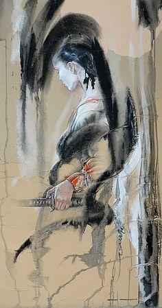 Femme au efu no tashi. Série «La Femme et les Arts Martiaux».