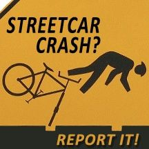Streetcar Crash? Report it online...