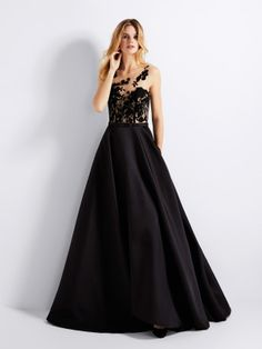 Kristal tülden siyah kokteyl elbisesi