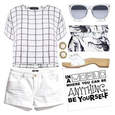 Summer Whites by lgb321 on Polyvore featuring polyvore, fashion, style, Myne, H&M, Topshop, Kendra Scott and clothing