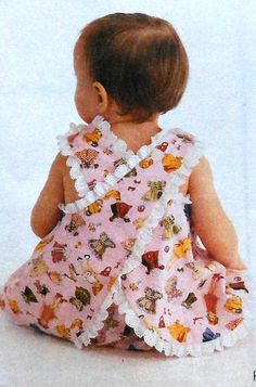 I made a dress exactly like this in high school sewing class to donate. Where was pinterest when I was looking for this pattern when I had my daughter...