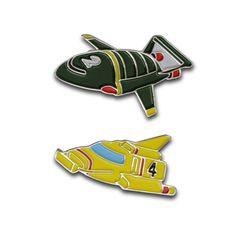 Retro design Thunderbirds cufflinks
