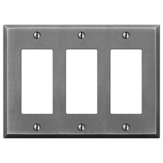 Manhattan Gunmetal Cast - 3 Rocker Wallplate