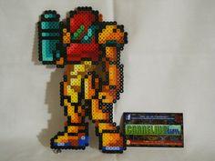 Metroid - Custom Samus Aran Bead Sprite by CorneliusPixelCrafts.deviantart.com on @DeviantArt