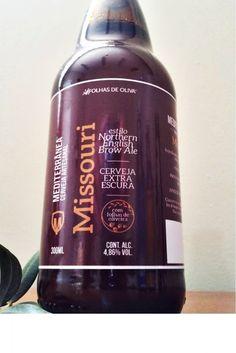 Cerveja Mediterrânea Missouri, estilo English Brown Ale, produzida por  Cervejaria Caseira, Brasil. 4.8% ABV de álcool.