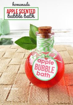 <p>Yum! Fall is in the air and nothing makes you feel warm and cozy like the the smell of this Apple Scented Homemade Bubble Bath. This will be wonderful after a long day. I bet your favorite teacher would love this along with the free printable label. Added to Free …</p>