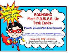 Math POWER Number Sense Task Cards+ for Rounding