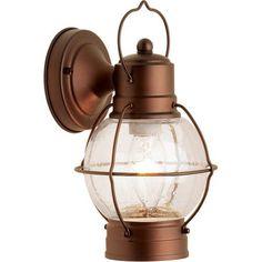 Hampton Rustico Lantern, Outdoor Lighting, Aged Bronze $17 get 2 for over bed