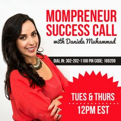 Join me each Tuesday & Thursday at 12PM EST as I discuss all topics related to being a work from home mama!  Dial In: 302-202-1108 Conference Code: 169209