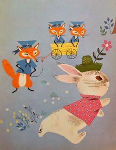 Infantiles Vintage reserva ilustraciones - 1940 ilustrado por Alicia & Martin Provensen. Páginas de gran tamaño - perfectos para enmarcar - artesanías de papel!