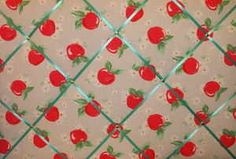 Large Cath Kidston Apple Hand Crafted Fabric Notice / Pin / Memo Board