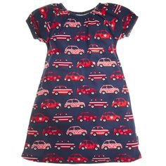 cute baby girl dress with cars!