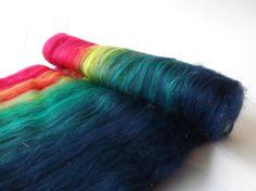 Wool batt Merino wool Angelina sparkle batt by nunoco