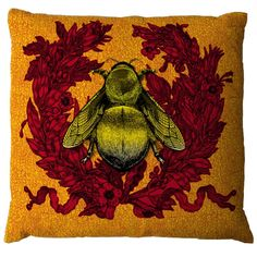 ≗ The Bee's Reverie ≗  Empire Bee Cushion at Eco First Art