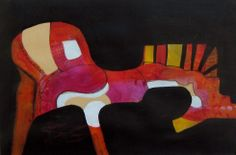 """""""To Ride A Painted Pony"""" 14""""X21"""" acrylic on paper © Sandra A. Neary 2014"""