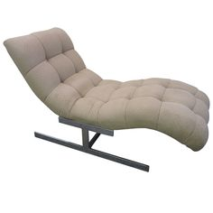 Milo Baughman Wave Chaise Lounge Chair Mid-century Modern