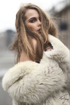 Image result for implied nudity fur coat model