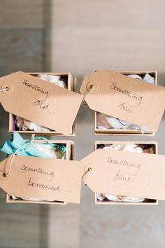 Something Old New Borrowed Blue Lovely Idea For The Bridesmaids To Give Bride On Her Day