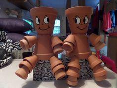 Handmade Terracotta Clay Pot People
