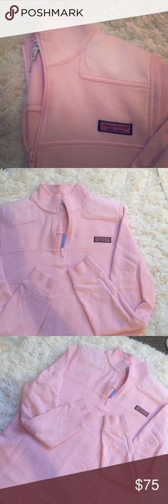 Vineyard Vines Pink Shepshirt Worn only a couple times, great condition Vineyard Vines Jackets & Coats