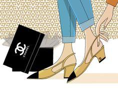 TOTEM VF: el zapato bicolor de Chanel - Historia del zapato bicolor de Chanel   Vanity Fair