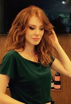 Elçin Makeup Face Charts, Different Shades Of Red, Redheads Freckles, Red Hair Woman, Elcin Sangu, Prettiest Actresses, Gorgeous Redhead, Turkish Actors, My Princess