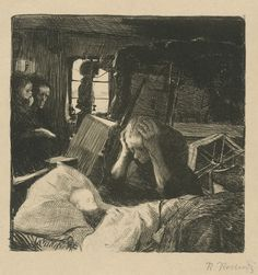 Käthe Kollwitz - Need (c.1893-1901).
