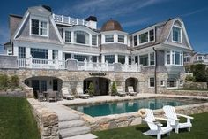 Cape Cod Exteriors With Porch Design Ideas, Pictures, Remodel and Decor