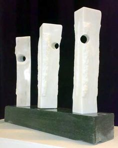 Portuguese marble, granite Abstract Garden sculpture by artist Tom Allan titled: 'All along the Watchtower (Modern Abstract Marble statue)' £3500 #sculpture #art