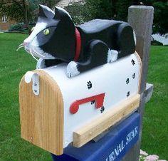 cat mailbox..