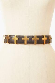 Cross Leather Belt