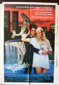 "Movie Poster  ""Splash""  Orignial 1984 Movie Poster - Daryl Hannah - Tom Hanks by MoviePostersAndMore on Etsy"
